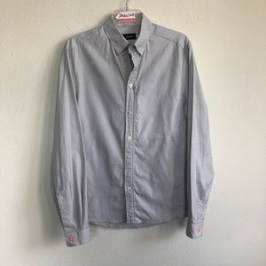 Rapha button down long sleeve pocket striped shirt